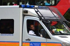 Metropolitan Police Van Royalty Free Stock Photo