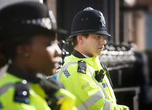 Metropolitan Policewoman on duty in London Royalty Free Stock Photo