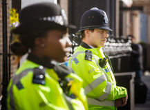 Metropolitan Policewoman on duty in London Stock Photography