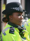 Metropolitan Policewoman on duty in London Stock Photo