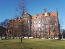 Metropolitan Seminary and Papal Faculty of Theology, Wroclaw, Poland. A picture of neo gothic building of Metropolitan Seminary and Papal Faculty of Theology on royalty free stock image