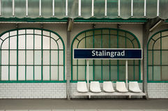 Metropolitan station in Paris Royalty Free Stock Photos