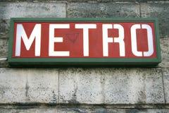 Metropolitana Fotografia Stock