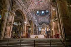 Metropolitana cathedral on Plaza de Armas in Santiago, Chile. Royalty Free Stock Images