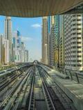 Metropolitana del Dubai immagine stock libera da diritti