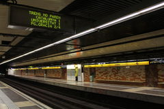 Metropolitana di Barcellona dopo l'attacco terrorista Immagini Stock Libere da Diritti