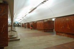 Metropolitana di Mosca, inerior della stazione Ploshchad Il'icha Fotografie Stock Libere da Diritti