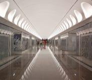 Metropolitana di Mosca, stazione Dostoyevskaya Fotografia Stock