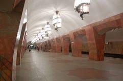 Metropolitana di Mosca, stazione Marksistskaya Fotografia Stock
