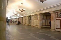 Metropolitana di Mosca, stazione Paveletskaya (linea del cerchio) Immagini Stock Libere da Diritti