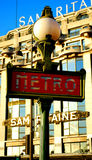 Metropolitana di Parigi Immagine Stock