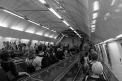 Metropolitana di Praga Fotografia Stock