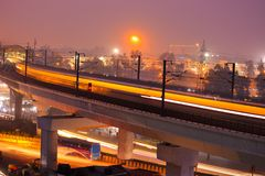 Metropolitana indiana fotografie stock