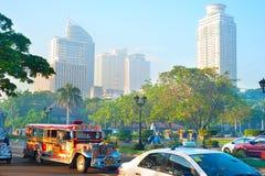 Metropolitana Manila di mattina Fotografie Stock