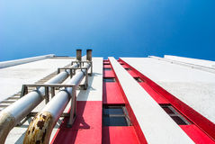 Metropolitana per ventilazione dell'aria su costruzione Immagini Stock Libere da Diritti