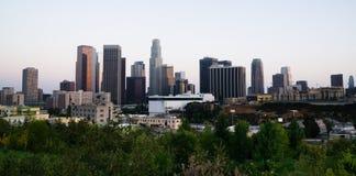 Metropolitana urbana del bello di Los Angeles orizzonte del centro leggero della città Fotografia Stock