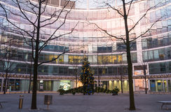 Metropolitano de Regus Varsovia - centro de la oficina Imagen de archivo libre de regalías