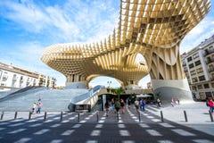 Metropolparasol Sevilla Spanje Stock Foto's