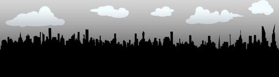 Metropool - horizon van onbestaande stad royalty-vrije illustratie