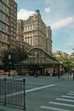1 2 3 Metropost bij 72ste Straat en Broadway in Manhattan, New York, de V.S. Royalty-vrije Stock Afbeeldingen