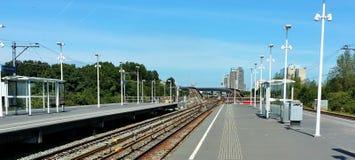 Metrorailstation in Amsterdam stock afbeeldingen