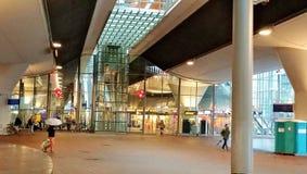 Metrorailstation in Amsterdam stock afbeelding