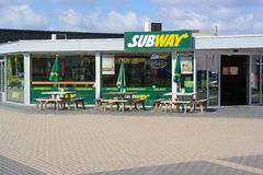 Metrorestaurant stock afbeeldingen