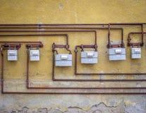 Metros de gas Imágenes de archivo libres de regalías