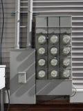 Metros de la medida de la electricidad Fotografía de archivo libre de regalías
