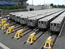 Metros de Nueva York Imagen de archivo libre de regalías