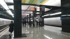 Metrostation CSKA - ist eine Station auf der Kalininsko-Solntsevskayalinie der Moskau-Metros stock video