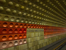 Metrostation i Prague Royaltyfria Bilder