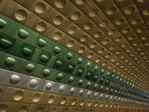 Metrostation i Prague Arkivfoton