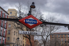 Metrostation im La Latina Madrid Lizenzfreies Stockbild