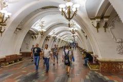 Metrostation Moskaus, Russland - Arbatskaya- stockbild