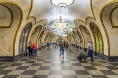 Metrostation Moskaus, Russland - Novoslobodskaya- lizenzfreie stockbilder