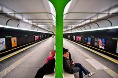 metrostation vienna Arkivbild