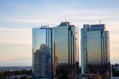Metrotownwandelgalerij in Burnaby, Vancouver, tijdens zonsondergang stock afbeelding