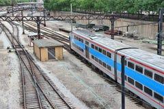 Metru pociąg, Chicago zdjęcia royalty free