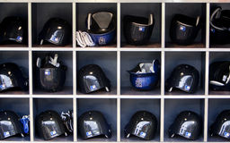 Mets basball helmets Stock Photography