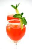 Mets de cocktail de deux rouges Images libres de droits