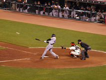 Free Mets Jason Bay Connects With The Ball Stock Photography - 15200372