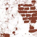 Metselwerk, bakstenen muur van een oud huis, bruine en witte grungetextuur, abstracte achtergrond Vector royalty-vrije illustratie