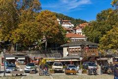 METSOVO, EPIRUS, GRÉCIA - 19 DE OUTUBRO DE 2013: Vista panorâmica da vila de Metsovo perto da cidade de Ioannina, Grécia fotografia de stock