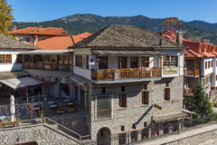 METSOVO, EPIRUS, GREECE - OCTOBER 19 2013: Panoramic view of village of Metsovo near city of Ioannina, Greece Royalty Free Stock Photo