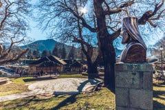 METSOVO, GRECJA †'2017 Głównych dróg Metsovo miasteczko w Epirus ne Obrazy Stock