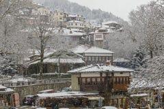 Metsovo-Schnee stockfoto
