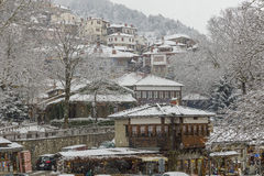 Metsovo snö arkivfoto