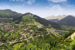 Metsovo tourist resort and mountains at a summer, Greece Stock Photography