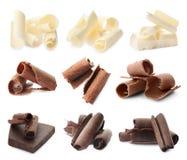 Metta con differenti generi di cioccolato delizioso fotografia stock libera da diritti